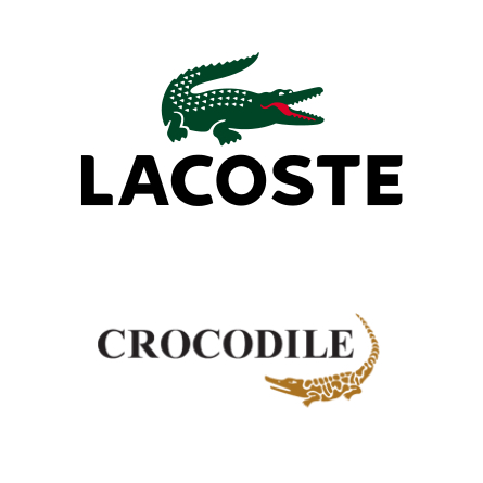 Lacoste 與 Crocodile 的 Logo 分別。