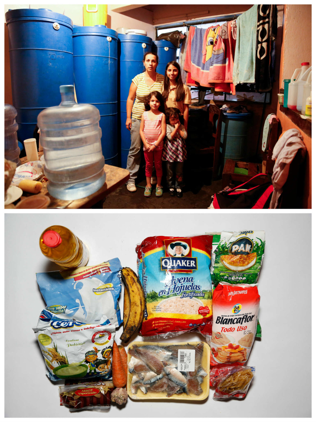 Yaneidy Guzman 一家:「糧食變成奢侈品。以前我們有閒錢買衫,現在全部用在口糧。」