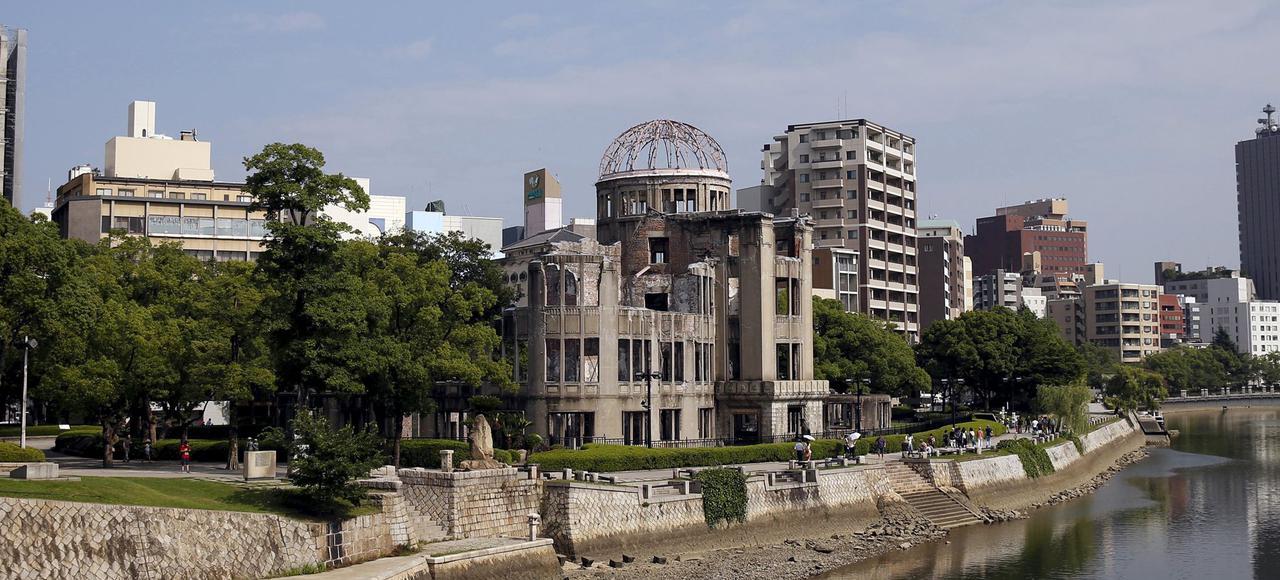 日媒早前報道,奧巴馬會在月底訪問廣島,期間將參觀原爆遺址。圖片來源:路透社