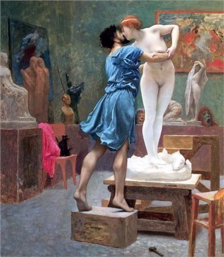愛上自己創作的塑像的雕塑家皮格馬利翁。圖片來源:Pinterest