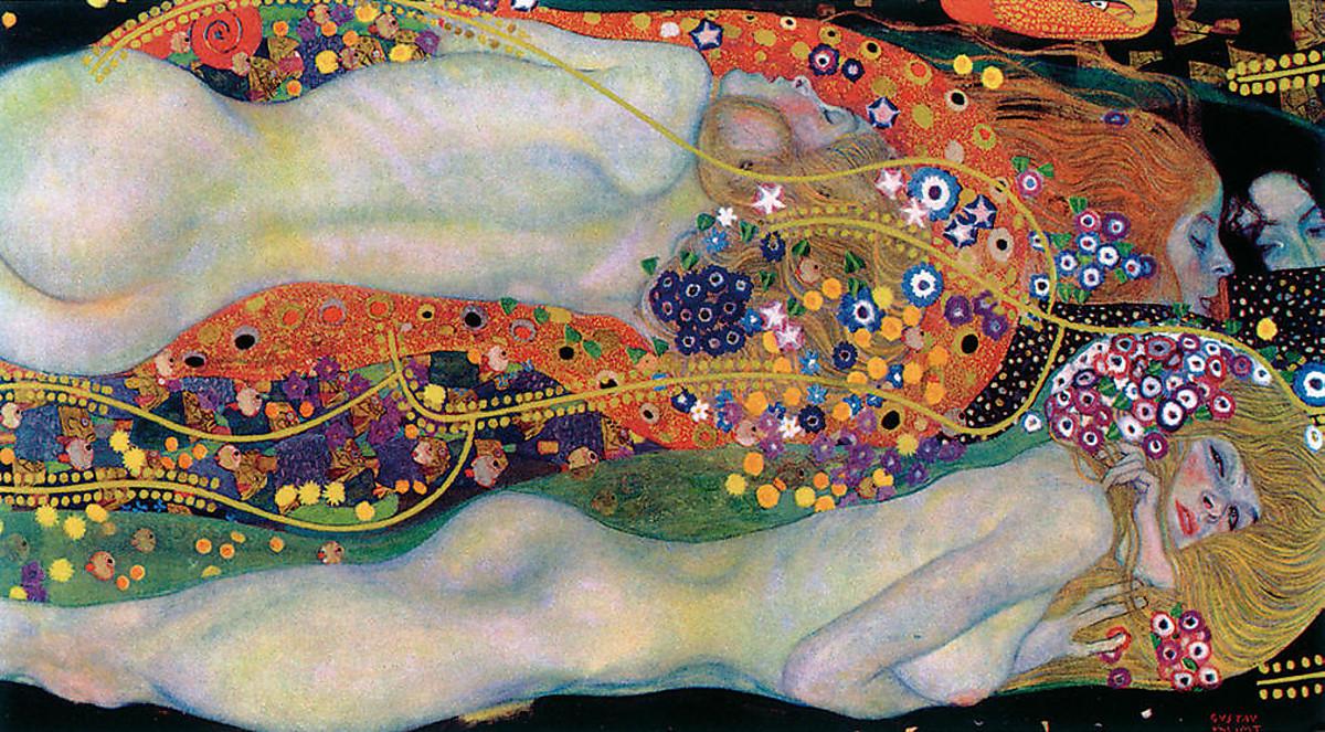 Gustav Klimt 畫作「水蛇 II」以過十億元拍出之後,從此銷聲匿跡。 圖片來源:維基百科