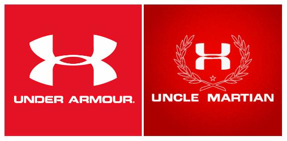Under Armour 與 Uncle Martian 的 Logo 分別。