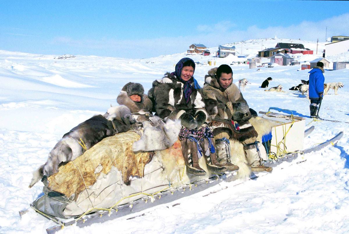格陵蘭的原住民:紐特人。 圖片來源:wikicommons