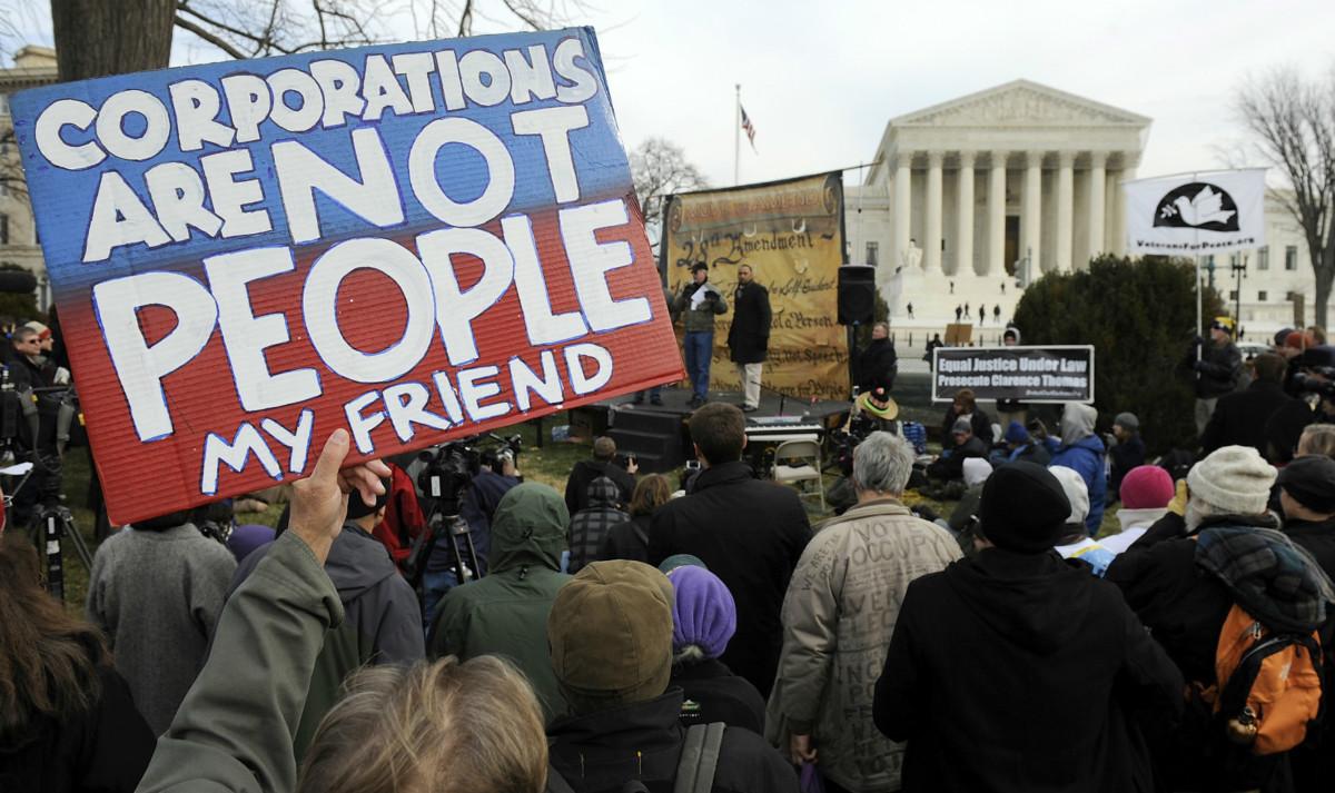 企業不是人類,卻有「言論自由」,令不少美國人深感疑惑。 圖片來源:路透社