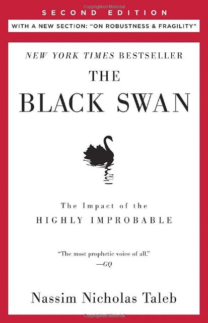 《黑天鵝效應:如何及早發現最不可能發生但總是發生的事》﹐ Nassim Nicholas Taleb 著。 圖片來源:Amazon