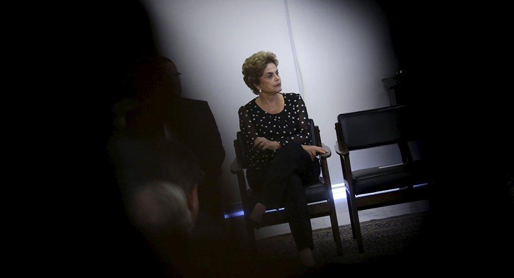 巴西被彈劾總統羅塞夫。圖片來源:路透社