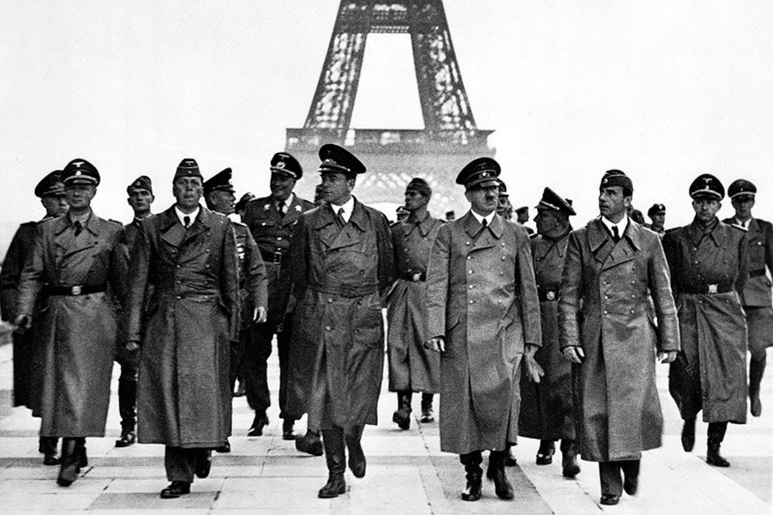 Hitler's triumphant tour of Paris