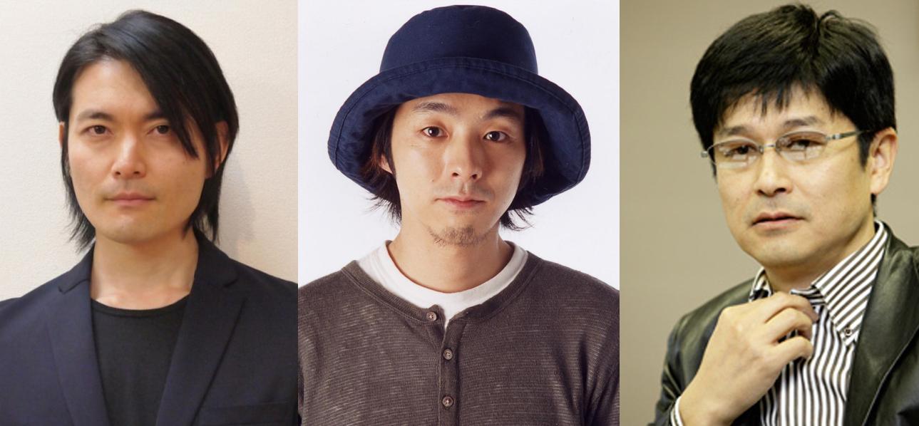 日本編劇三甲:古澤良太(左)、宮藤官九郎(中)、福田靖。