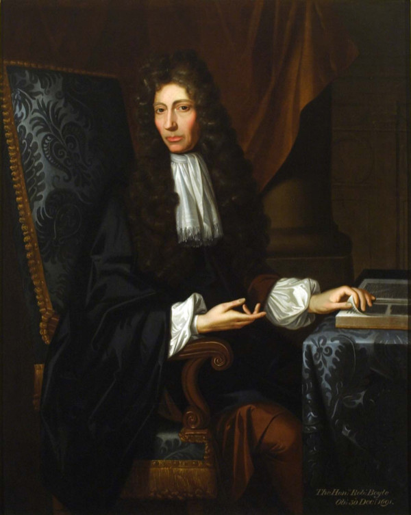 現代化學之父 Robert Boyle。 圖片來源:wikicommons
