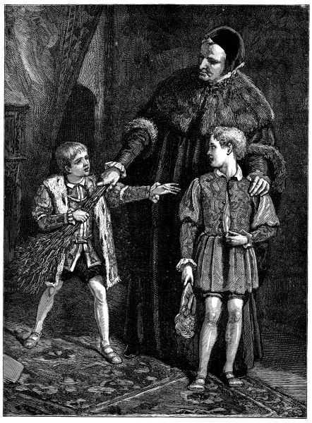 挨鞭童與王子。 圖片來源:wikicommons