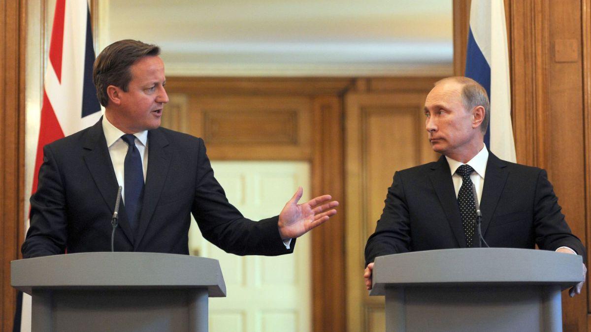 普京和卡梅倫近日就脫歐一事,互相指責。如令卡梅倫將要下台,若換個對俄國少點敵視的人來當新首相,普京應會喜聞樂見。圖片來源:路透社