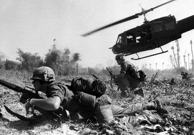 據稱,近 15% 在越戰回國的士兵染上毒癮。 圖片來源:wikicommons