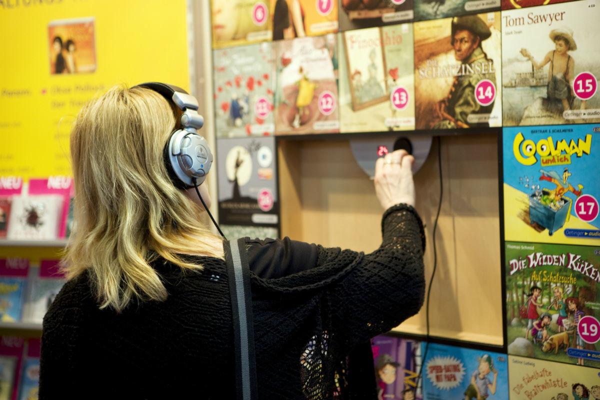萊比錫書展中的視聽書籍。