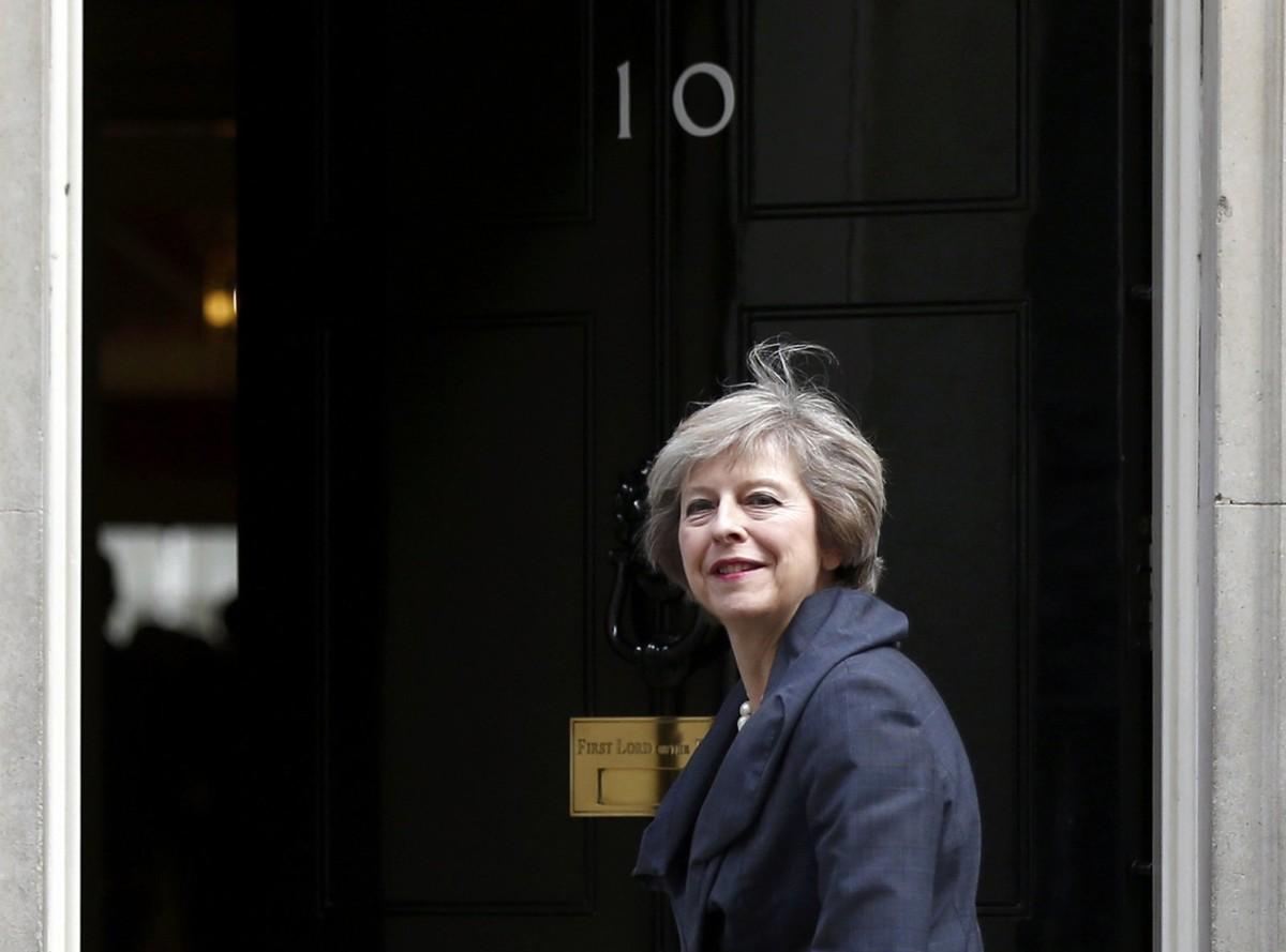 文翠珊入主唐寧街 10 號,成為英國史上第二位女首相。圖片來源:路透社