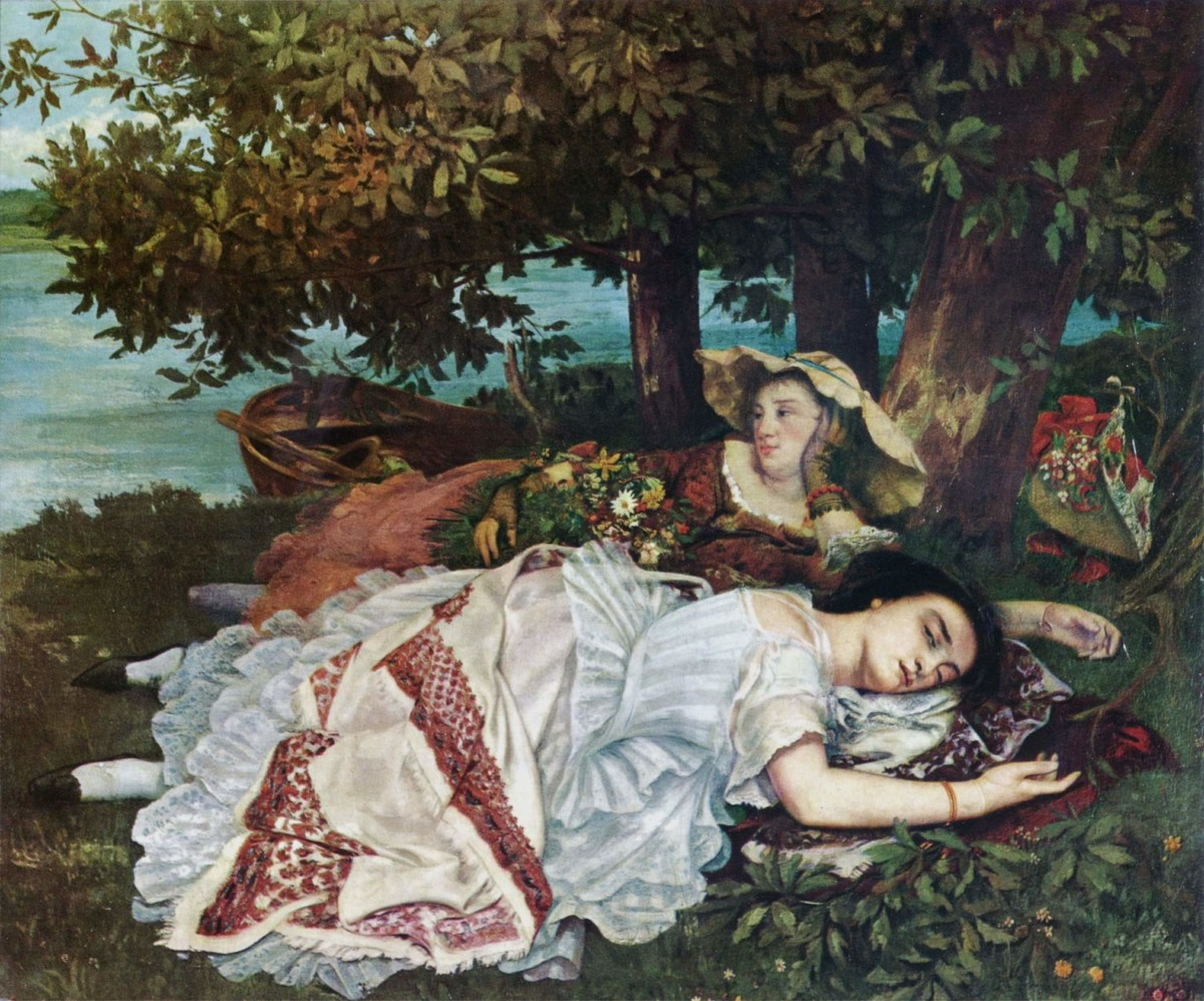 罪過罪過。Gustave Courbet:Young Ladies On The Banks Of The Seine