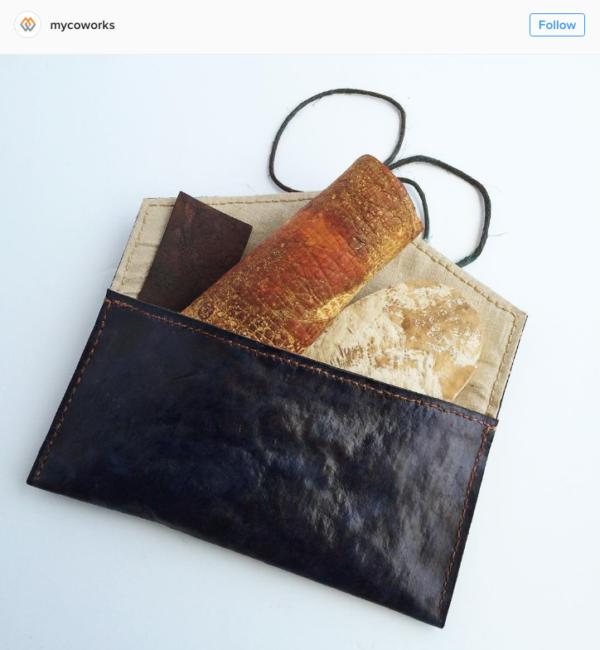 Mycoworks 的皮製銀包。 圖片來源: mycoworks@instagram