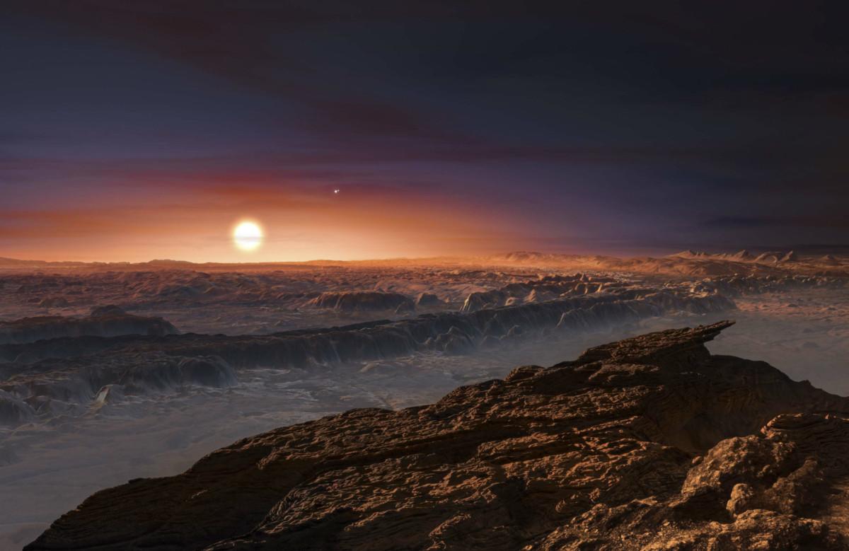 宜居系外行星 Proxima b 的合法想像示意圖。 圖片來源:路透社