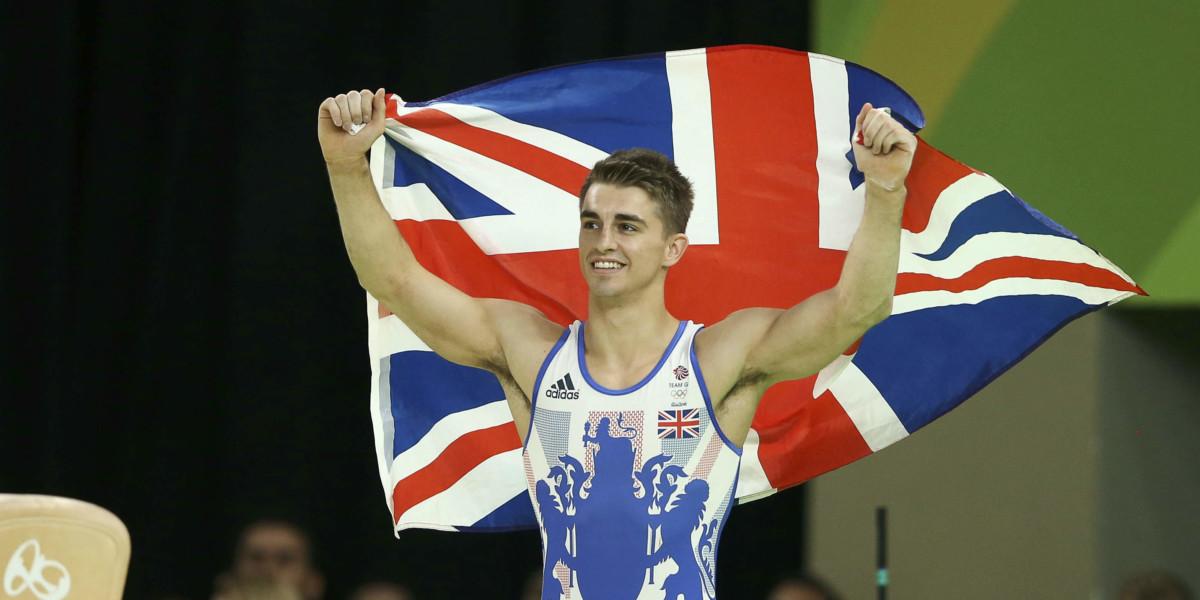 在鞍馬及自由體操奪金的英國選手 Max Whitlock (圖片來源:Reuters)