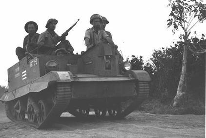 1948 年以色列的戰車 圖片來源:Wikicommons