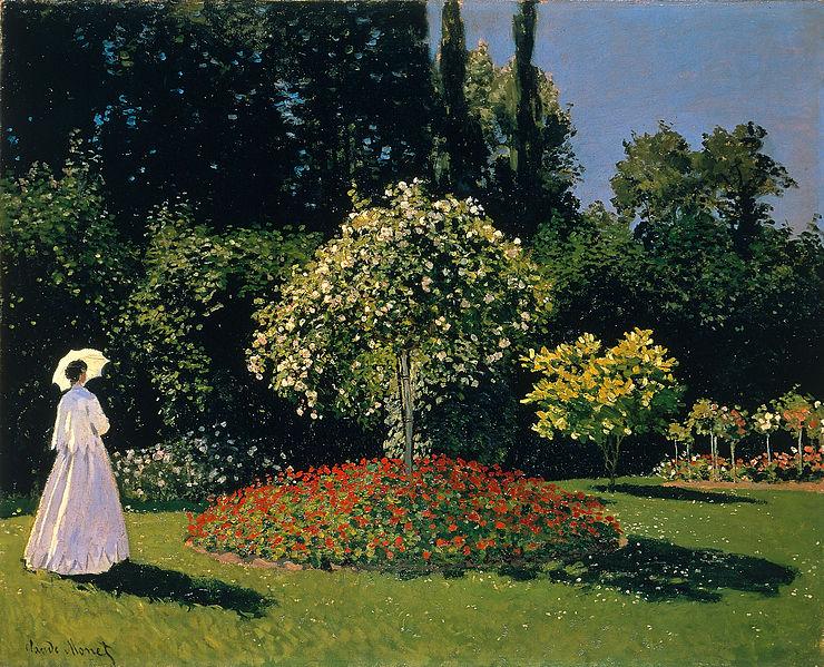 Women in a garden, 1867