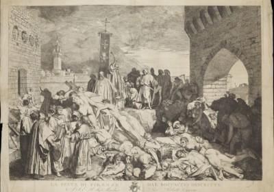 1348年佛罗伦斯的瘟疫。圖片來源:wikipedia