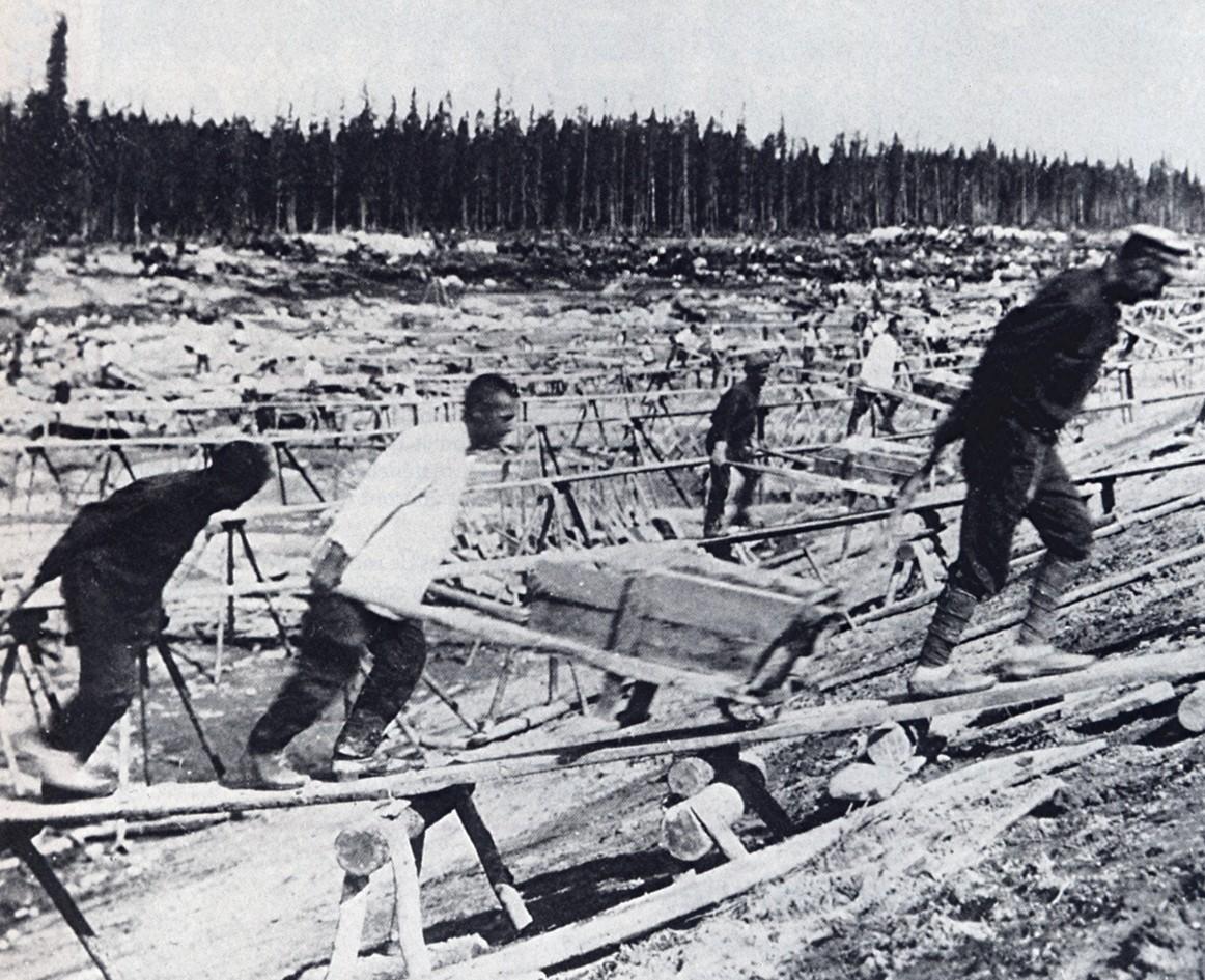 在「古拉格」集中營的生活。 圖片來源:wikicommons