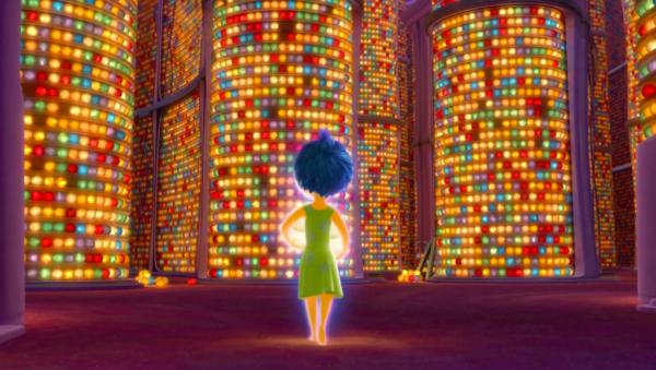 電影「Inside Out」相片,動畫呈現的記憶宮殿。
