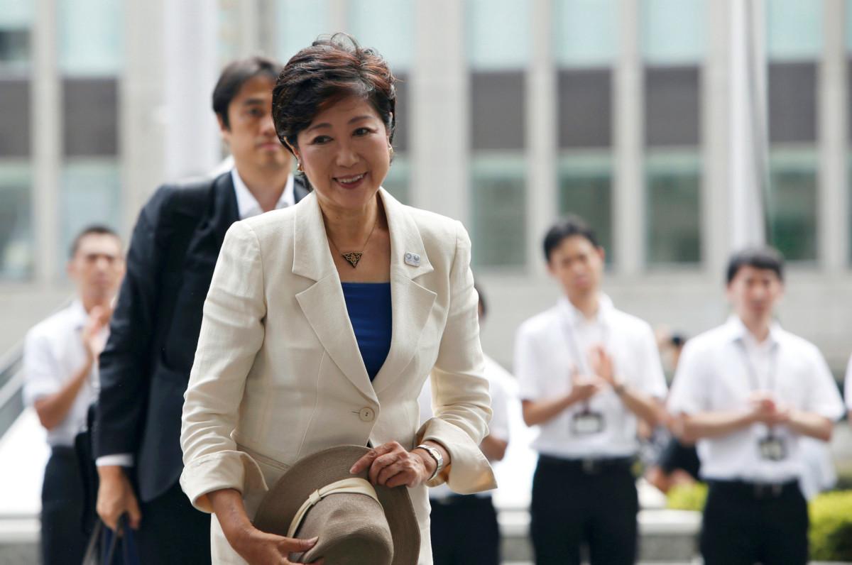 新任東京知事小池百合子首日履新,即揚言改革都政府架構。 圖片來源:路透社