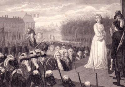 處決王后瑪麗・安托瓦內特。圖片來源:wikipedia