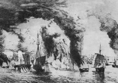 南京附近的太平軍海戰。圖片來源:wikipedia