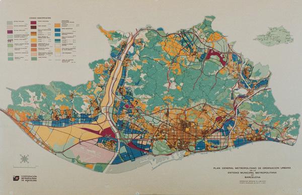 1976 年巴塞隆拿的區域規劃圖。 圖片來源:wikicommons
