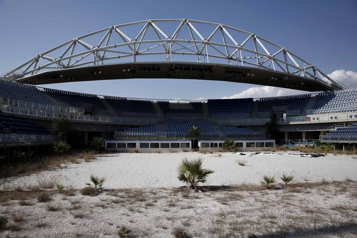 這裡曾是沙灘排球比賽場地。圖片來源:路透社