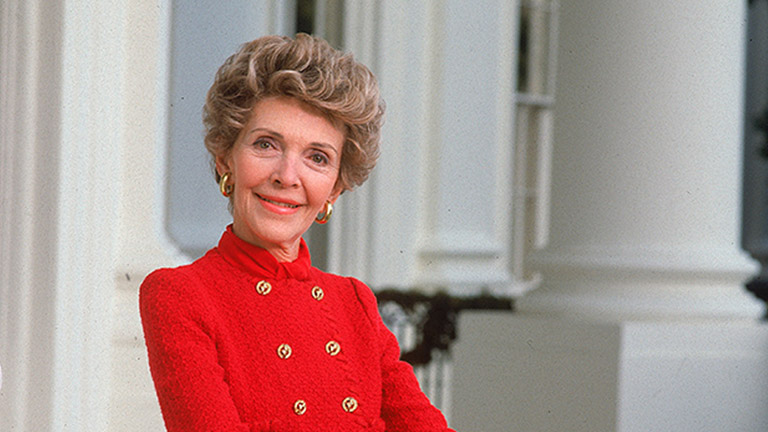 第一夫人Nancy Reagan。 圖片來源:people.com