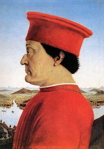 公爵畫像,Piero della Francesca 繪。 圖片來源:wikicommons