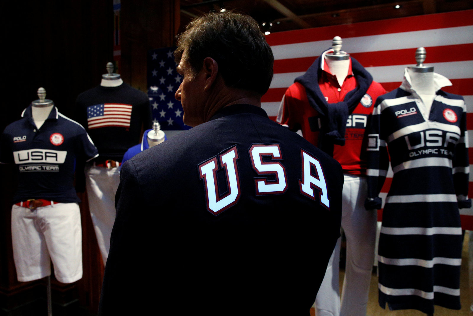 Polo Ralph Lauren 是里約奧運美國代表隊的官方服裝品牌。圖片來源:路透社