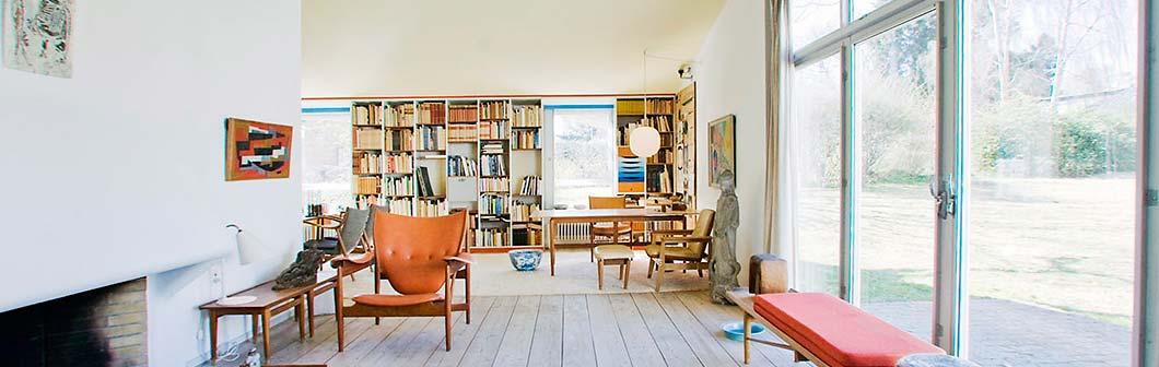 Finn Juhl 之家,由他親自示範如何將他的傢俬營造一個令人愜意的生活空間 。圖片來源︰ordrupgaard.dk