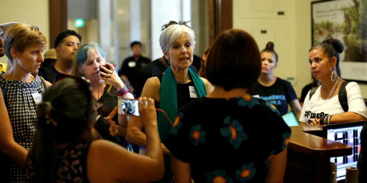 美國綠黨提名候選人斯泰因(Jill Stein)  圖片來源:路透社