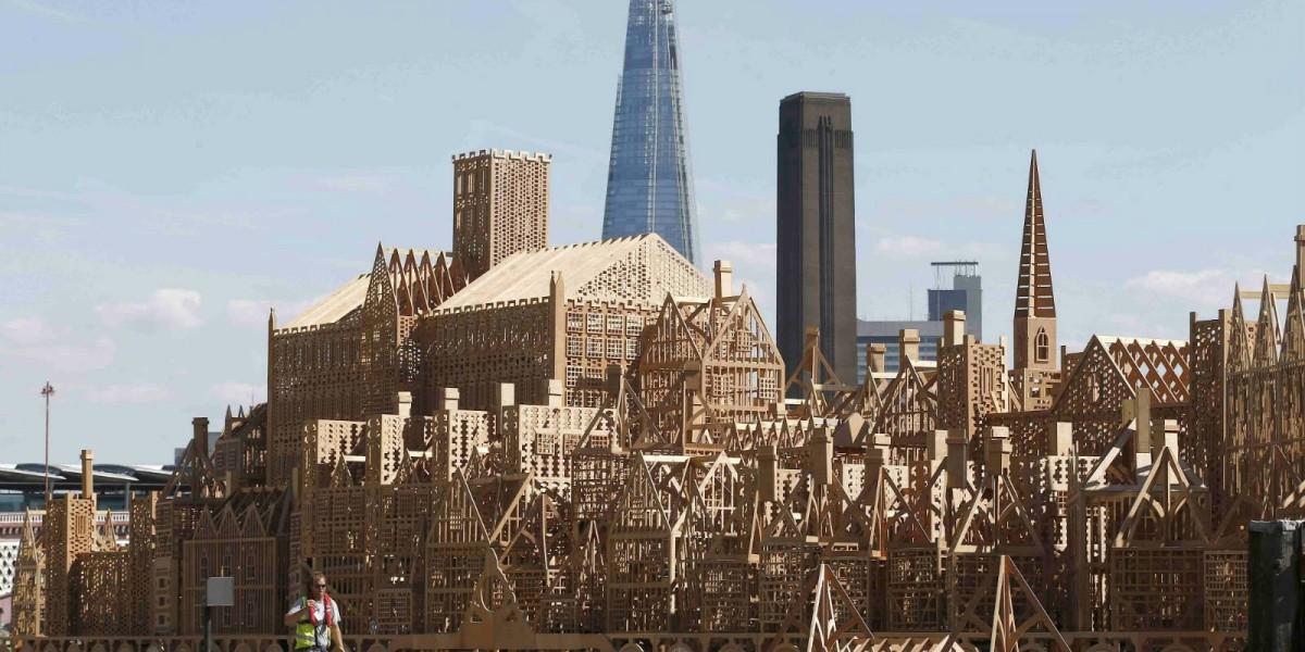 17 世紀倫敦城的模型 圖片來源:路透社