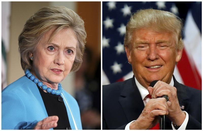 民調顯示,希拉莉與特朗普支持率不相上下。 圖片來源:路透社