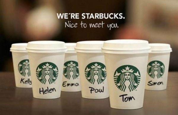 We are Starbucks. 你也是 Starbucks. 圖片來源:Pinterest
