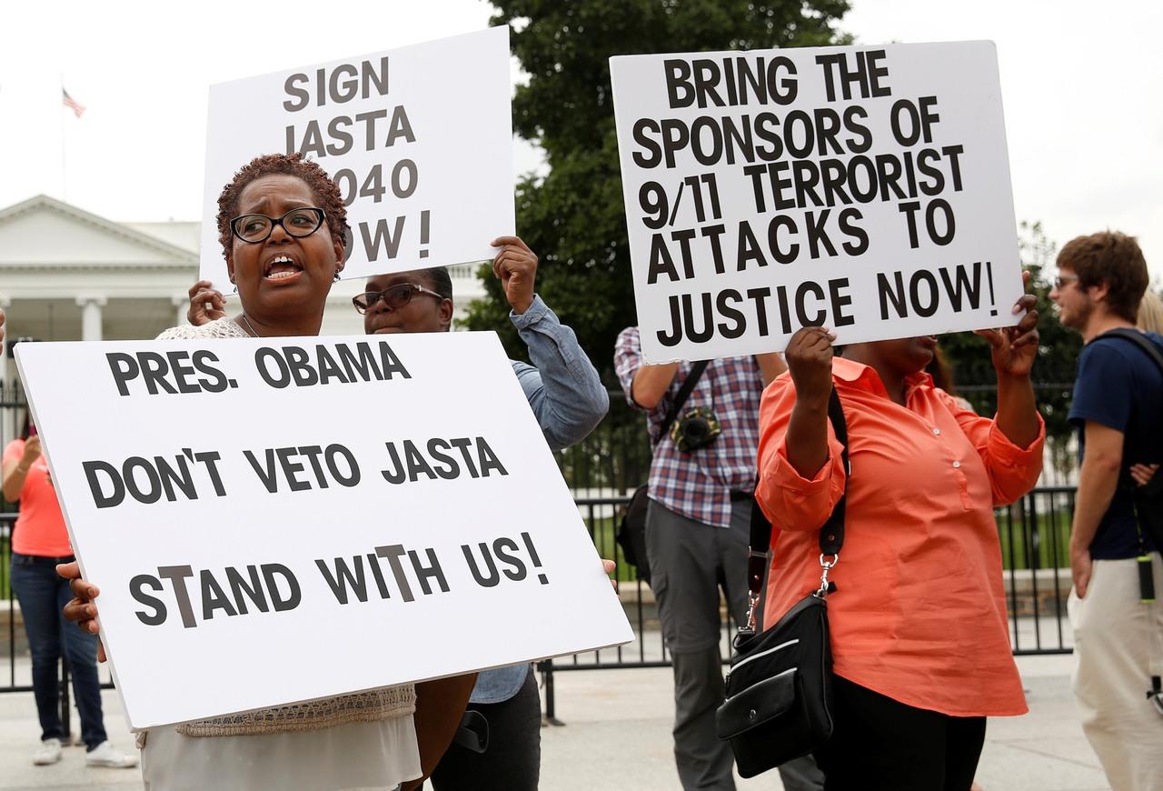 9.11 恐襲的死者家屬希望循法律途徑,向涉嫌資助恐怖份子的沙特政府討回公道。圖片來源:路透社