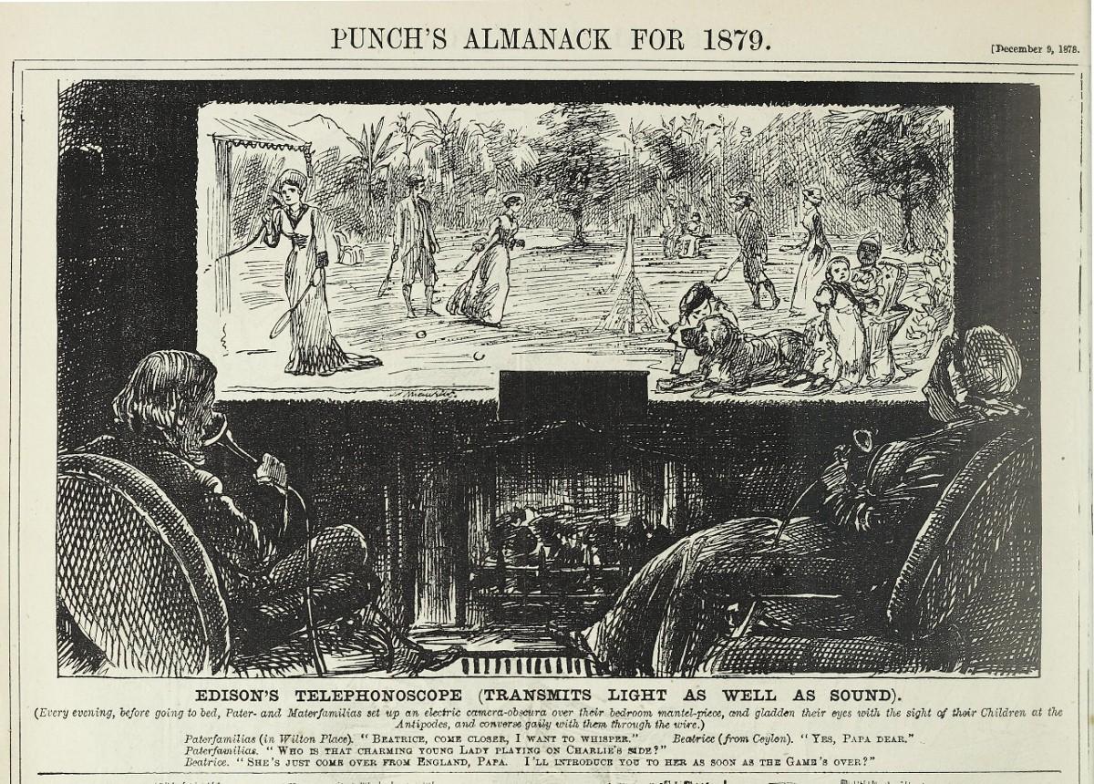 「愛迪生的電話影像機」。圖片來源:publicdomainreview