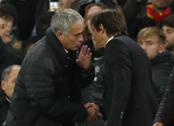 意大利傳媒報道,摩連奴批評干地贏夠四球還鼓動球迷慶祝,是對曼聯的侮辱。 圖片來源:路透社