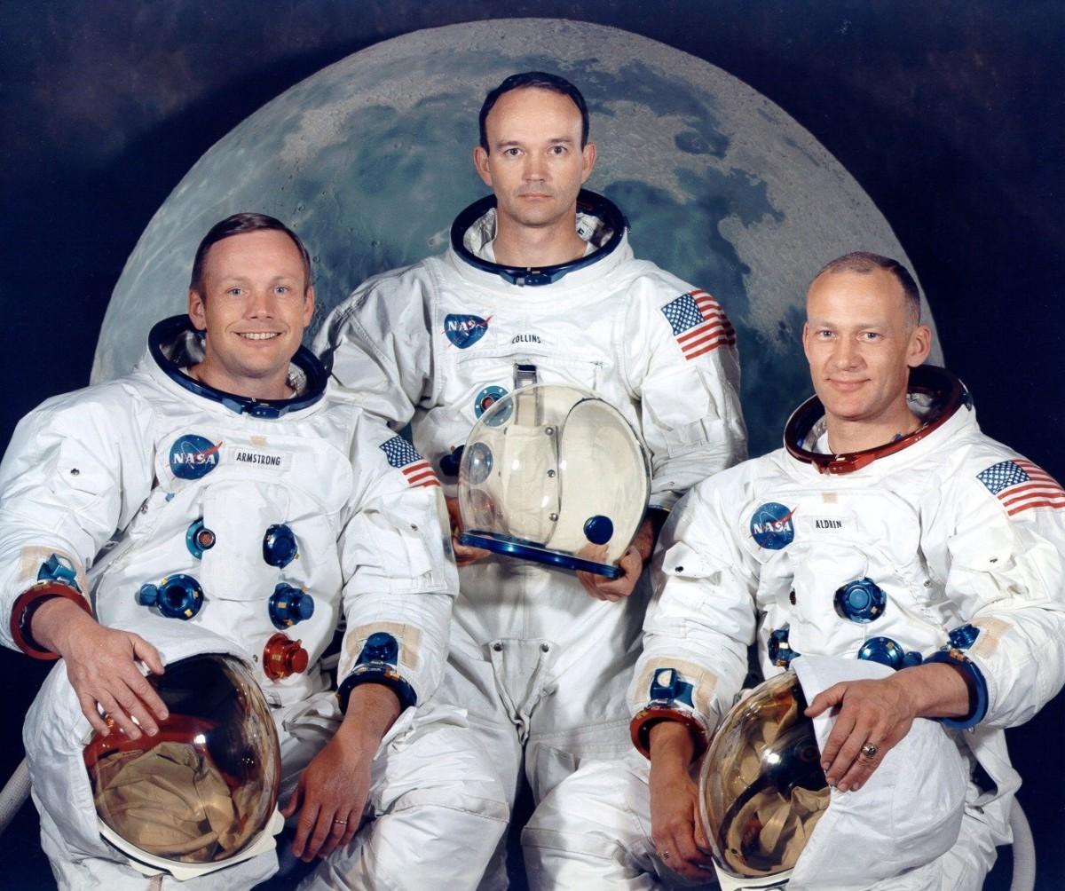 阿波羅 11 號的 3 位成員。圖片來源:Wikimedia