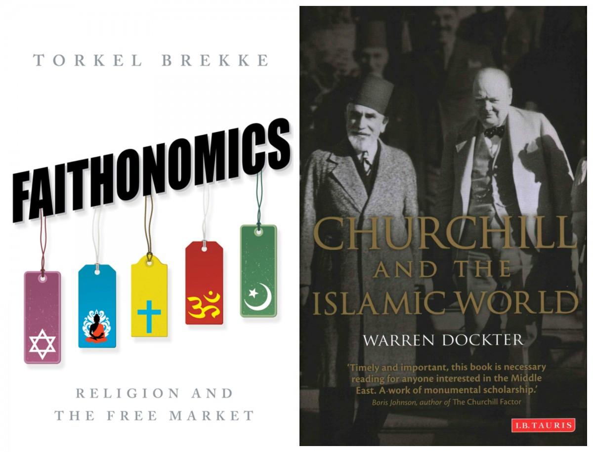 左:挪威經濟學家 Torkel Brekke 新作「信仰經濟學」以經濟活動解構宗教角色,試圖理解教派衝突頻仍的今日世界。右:邱吉爾一度有意改信回教,卻被家人勸止。