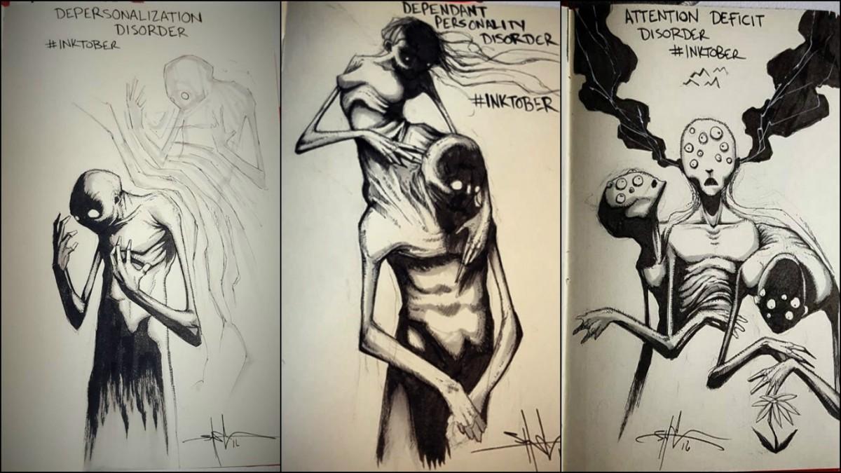 左起:人格解體障礙、依賴型人格障礙、注意力缺失症