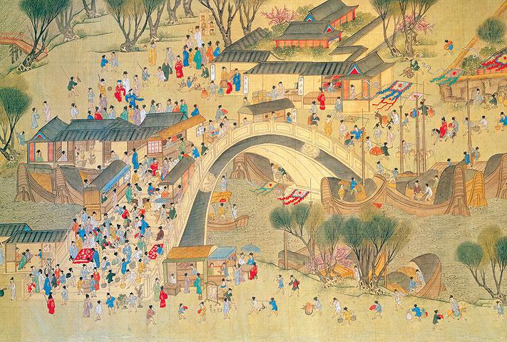 明本「清明上河圖」 圖片來源:台灣國立故宮博物院