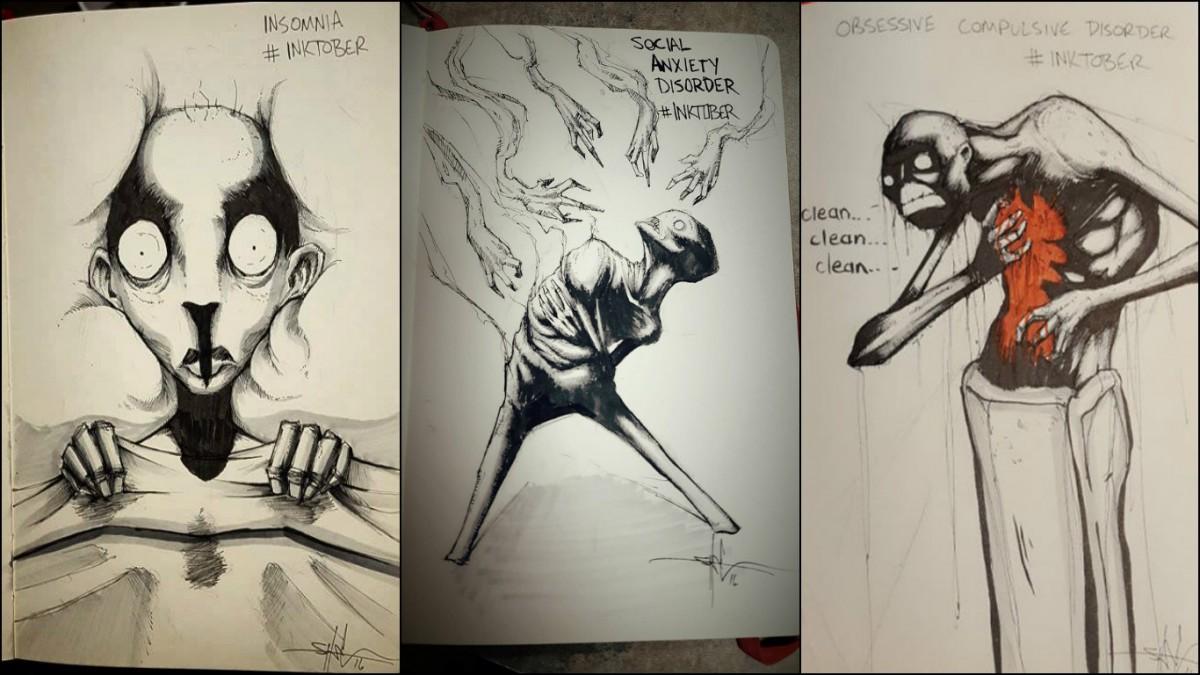 左起:失眠、社交恐懼症、強迫症