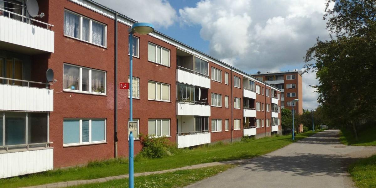 當時興建的房屋有高樓亦有低層住宅,位於 Hjulsta 的三層住宅是其中一個標準樓型。