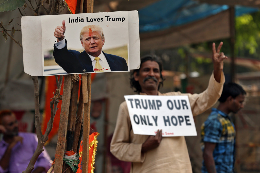 杜林普遠在印度也有粉絲。 圖片來源:路透社